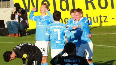 1860 München gewann gegen den Halleschen FC deutlich