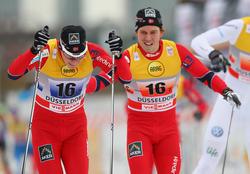 Norwegisches Teamsprint-Duo