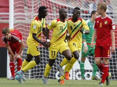 Mali sacó su velocidad para vulnerar por las bandas a la defensa belga. (Foto: Imago)