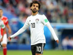 Geknickt: Ägypten-Star MohamedSalah nach der Niederlage gegen Russland