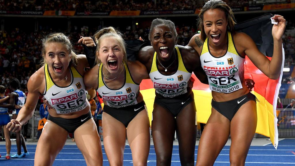 Staffel um Gina Lückenkemper holt Bronze bei der Leichtathletik-EM