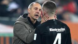 Adi Hütter erklärt seine Personalplanungen bei Eintracht Frankfurt