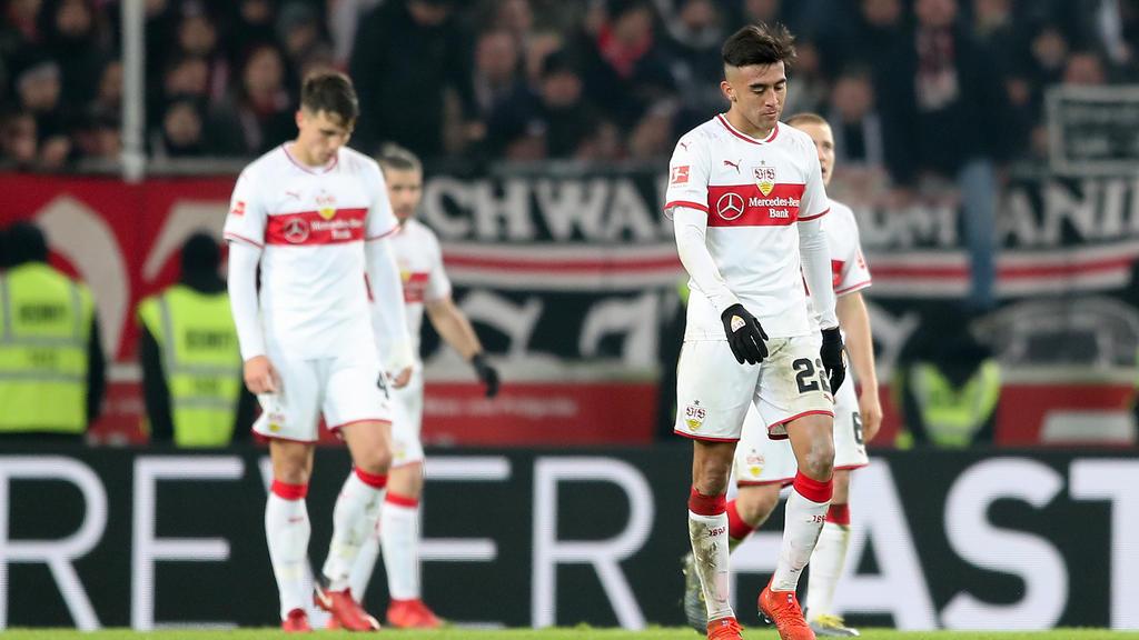 Hängende Köpfe bei den Profis des VfB Stuttgart