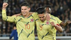 James y Falcao le dedicaron el gol al compatriota Quintero. (Foto: Getty)