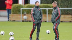 Peter Hermann (r.) war zuletzt als Co-Trainer beim FC Bayern tätig
