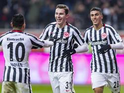 Un doblete del sueco Branimir Hrgota dio la victoria al Eintracht. (Foto: Getty)