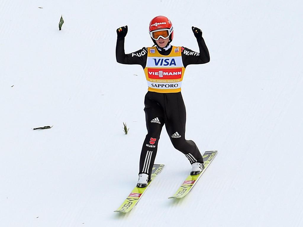 Katharina Althaus musste sich nur Maren Lundby geschlagen geben
