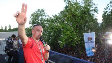 Franck Ribéry spielte bis zum Saisonende beim FC Bayern