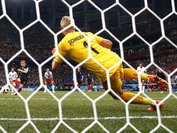 Kasper Schmeichel konnte den Elfmeter von Luca Modric in der Verlängerung halten