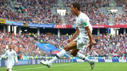 Raphael Varane erzielte im Viertelfinale gegen Uruguay das 1:0 für Frankreich