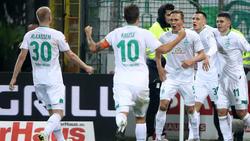 Werder Bremen jubelt über den Treffer in der Nachspielzeit