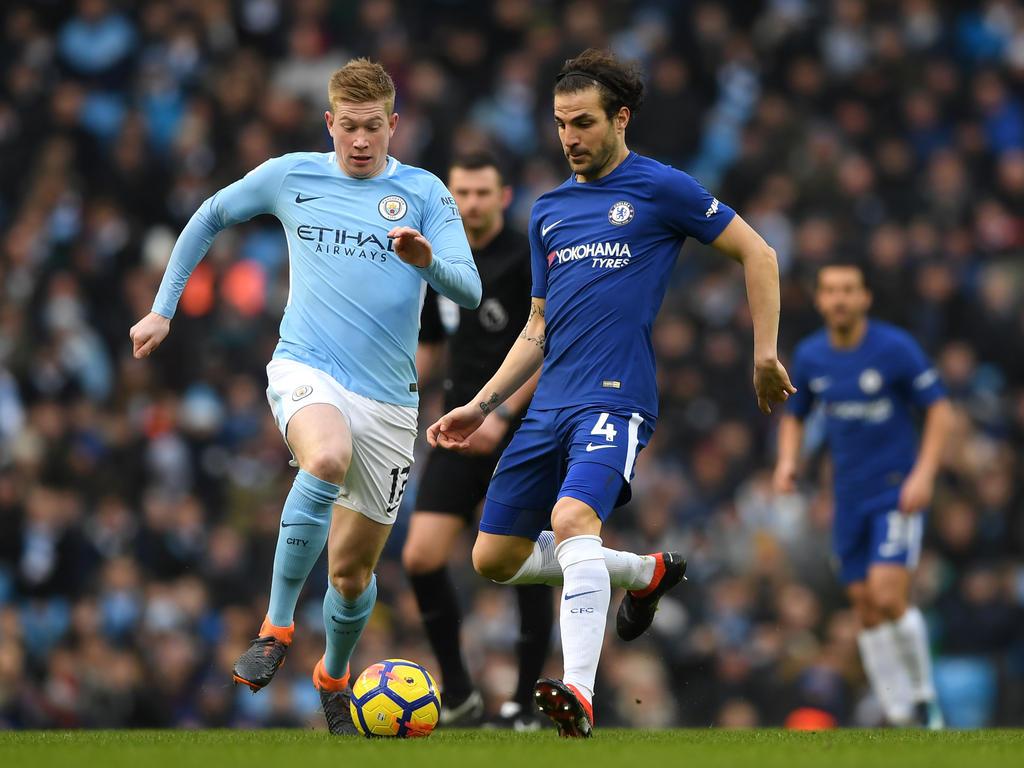 Fàbregas en un partido contra el Manchester City. (Foto: Getty)