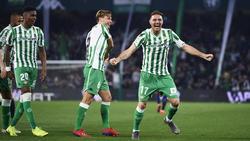 Joaquín no pudo esconder su alegría celebrando su extraordinario gol. (Foto: Getty)