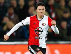 Steven Berghuis tijdens de wedstrijd Feyenoord - PEC Zwolle. (20-11-2016)
