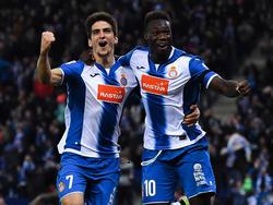 Gerard Moreno y Felipe Caicedo marcaron contra el Osasuna. (Foto: Getty)