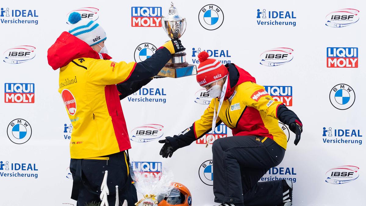 Tina Hermann ist zum dritten Mal in Folge Skeleton-Weltmeisterin