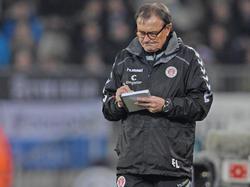 St. Paulis Kaderplanung füllt derzeit einige Zettel von Ewald Lienen
