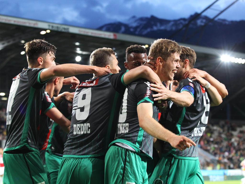 Wacker Innsbruck bejubelt die Rückkehr in die Bundesliga