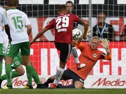 Thorsten Röcher glich die Greuther-Fürth-Führung durch Lukas Gugganig aus. © imago/Sportfoto Zink