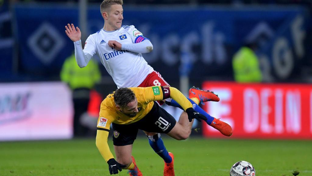 HSV schlägt Dynamo Dresden mit viel Mühe