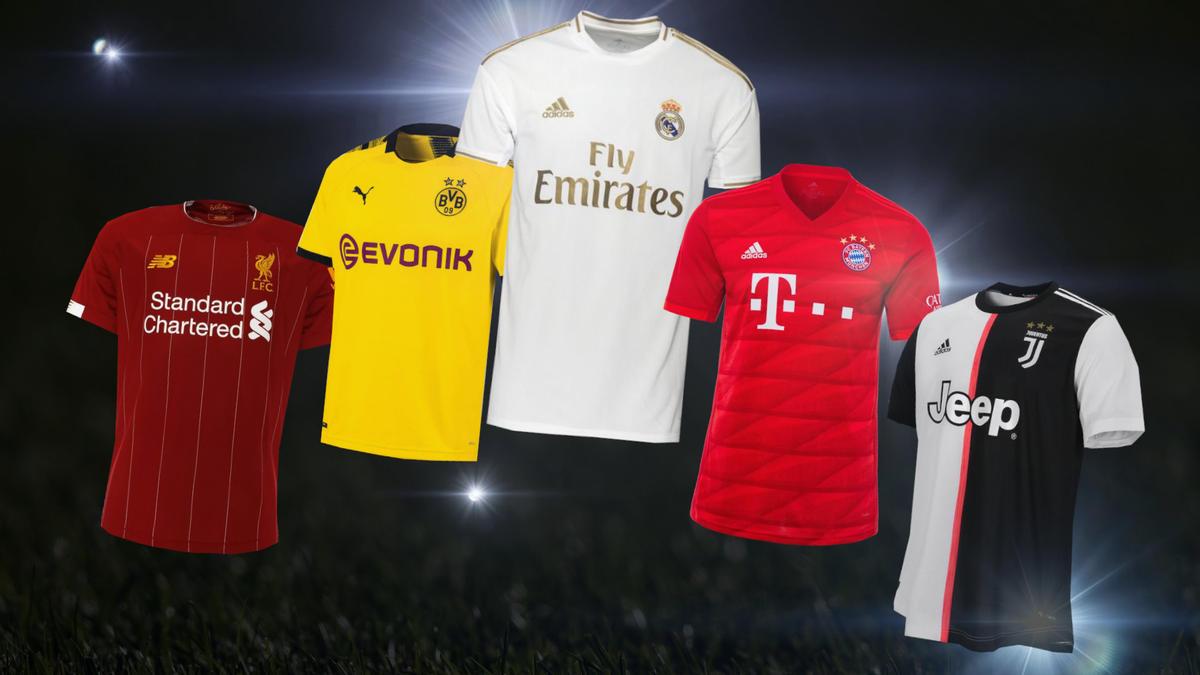 BVB, FC Bayern, Real Madrid und Co: Das sind die neuen Trikots der Top-Klubs