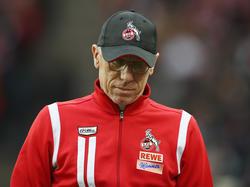 Peter Stöger musste mit dem 1. FC Köln den nächsten Tiefschlag hinnehmen