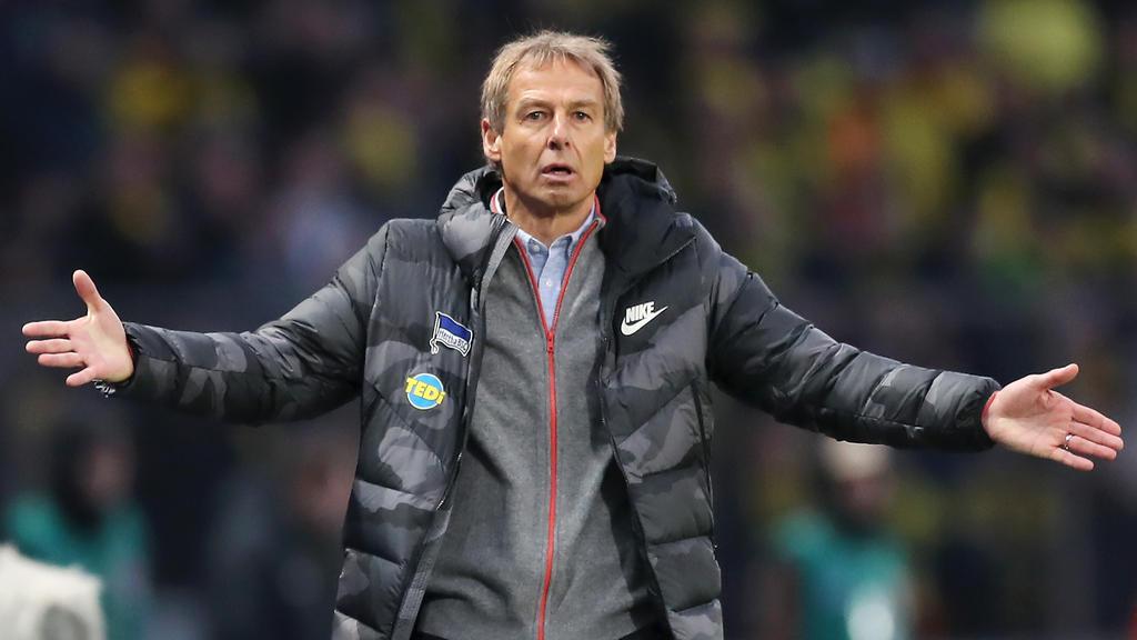Trainer Jürgen Klinsmann zog den Winter-Trainingsstart von Hertha BSC vor