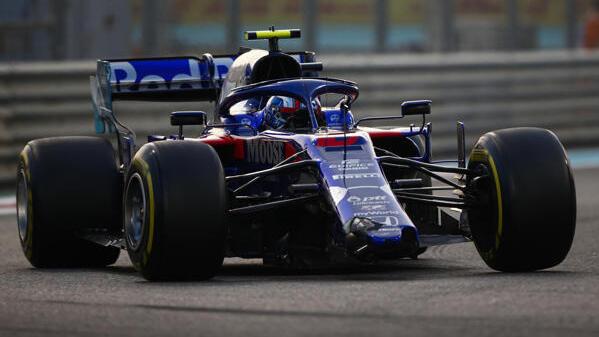 Pierre Gaslys beschädigter Toro Rosso in Runde 1 in Abu Dhabi