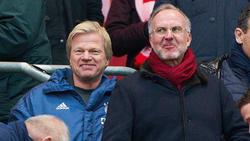 Noch frisch im Bayern-Vorstand: Oliver Kahn (l.)