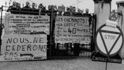 Mayo de 1968 durante las revueltas de París.