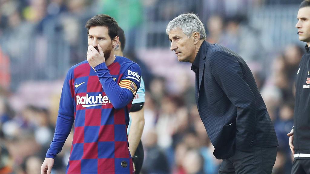 Quique Setién weiß nichts von einem möglichen Messi-Abgang