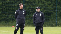Tim Borowski (l.) und Thomas Schaaf könnten Werder Bremen verlassen