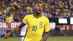 Neymar stand beim Auftritt der Brasilianer wieder einmal im Fokus