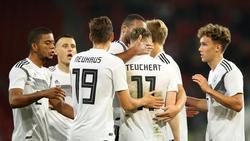 Cedric Teuchert erzielte das wichtige 1:0 für die U21 des DFB