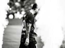 Messi en la presentación de la temporada en el Camp Nou.