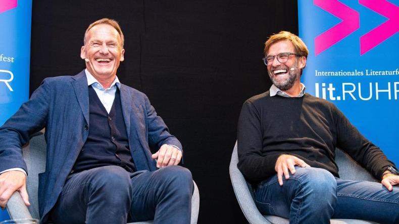 Jürgen Klopp (r.) an der Seite von BVB-Boss Hans-Joachim Watzke
