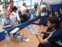 Tim Hoogland bei der Saisoneröffnung 2011 auf Schalke