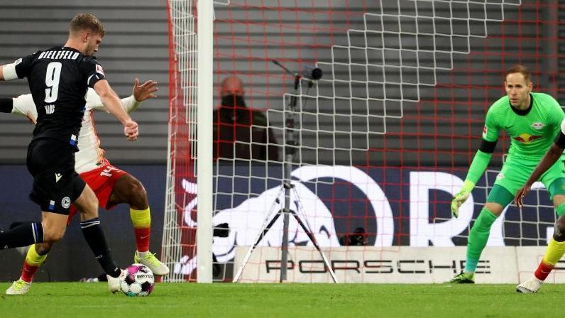 Traf zum ersten Mal in der Bundesliga: Fabian Klos von Arminia Bielefeld