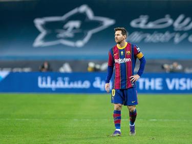 Messi en la final de la Supercopa ante el Athletic.