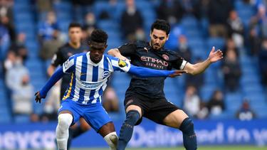 Ilkay Gündogan traf für Manchester City und musste in der zweiten Halbzeit ausgewechselt werden