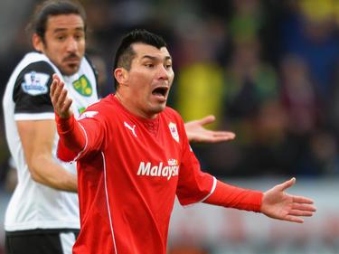 Medel con la maglia del Cardiff