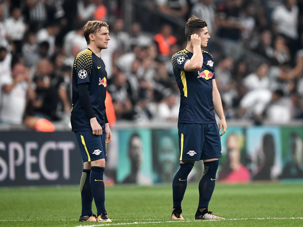 Emil Forsberg (l.) und Marcel Sabitzer sollen im Fokus von Inter Mailand stehen