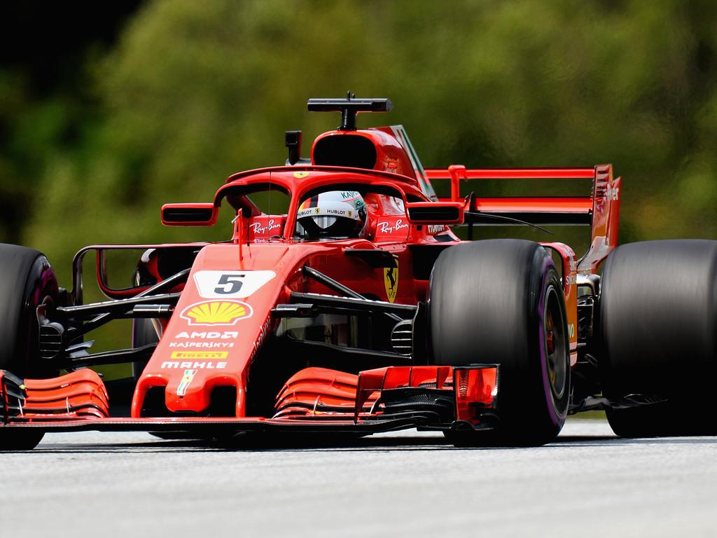 Sebastian Vettel spulte die ersten Runden in Spielberg ab