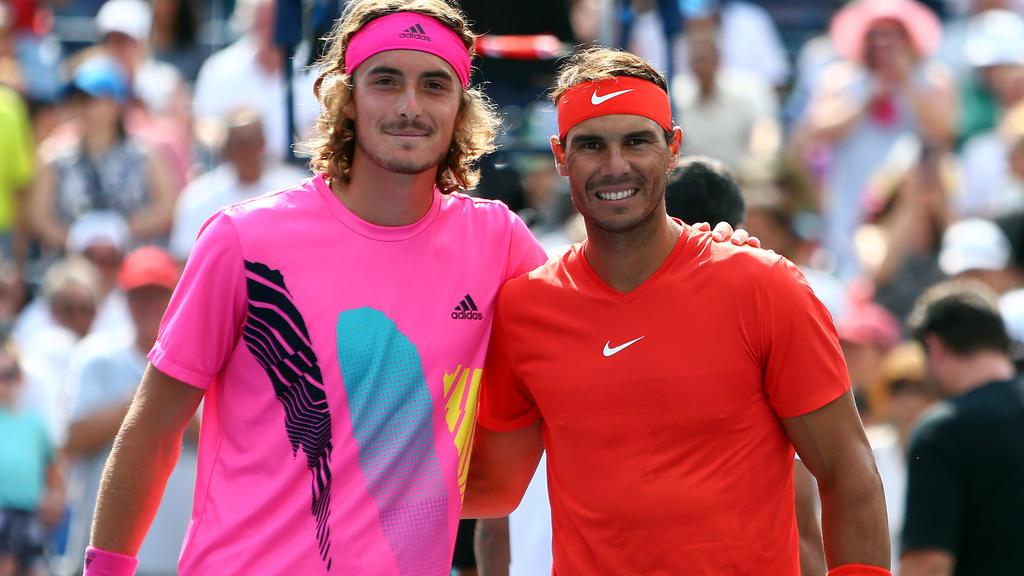 Rafael Nadal (l.) gewinnt Finale von Toronto gegen Stefanos Tsitsipas