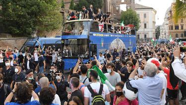 Italiens Europameister ließen sich in Rom feiern