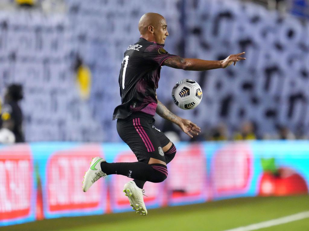 Luis Rodríguez hizo el gol de los aztecas.
