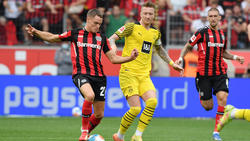 Florian Wirtz (l.) traf am Samstag gegen den BVB
