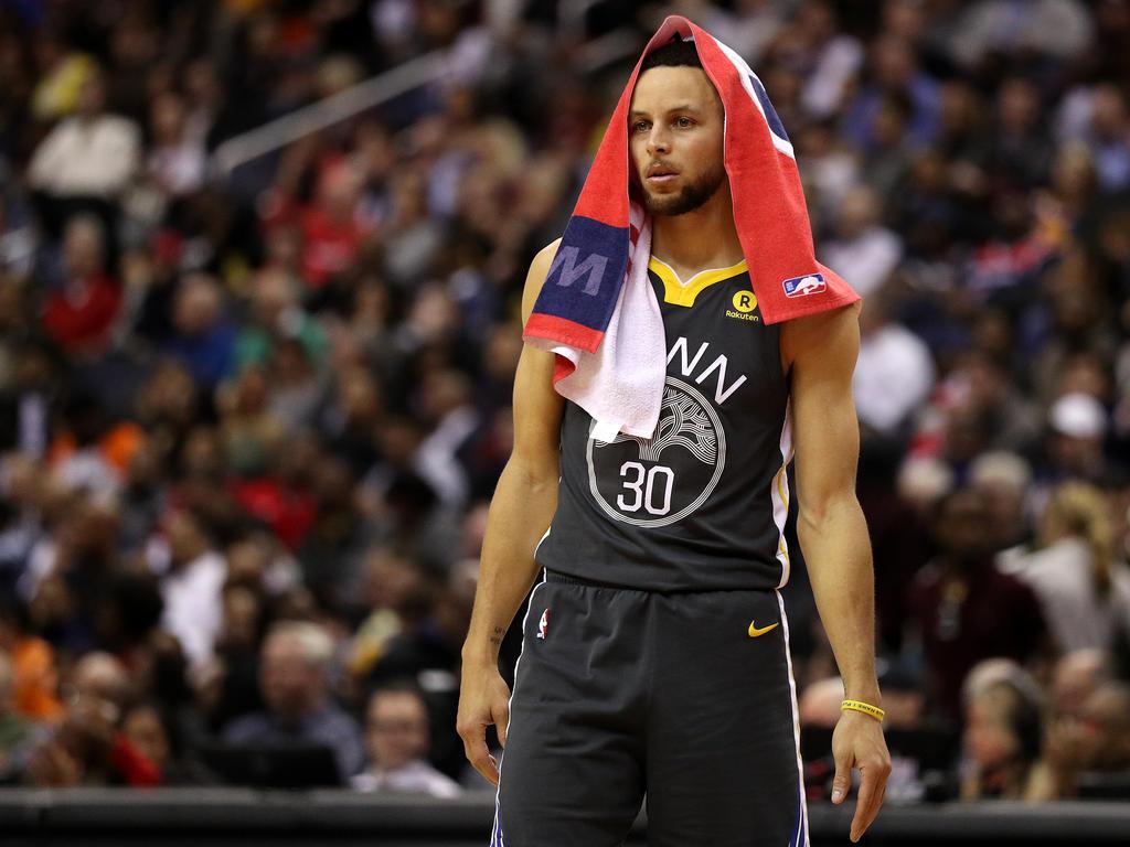 Stephen Curry verletzte sich im Spiel gegen die Spurs