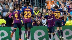 Lionel Messi traf dreimal gegen PSV