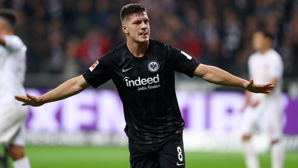 Luka Jovic erwischte gegen Fortuna Düsseldorf eine echte Sternstunde